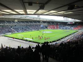 Pre kick-off Hampden view