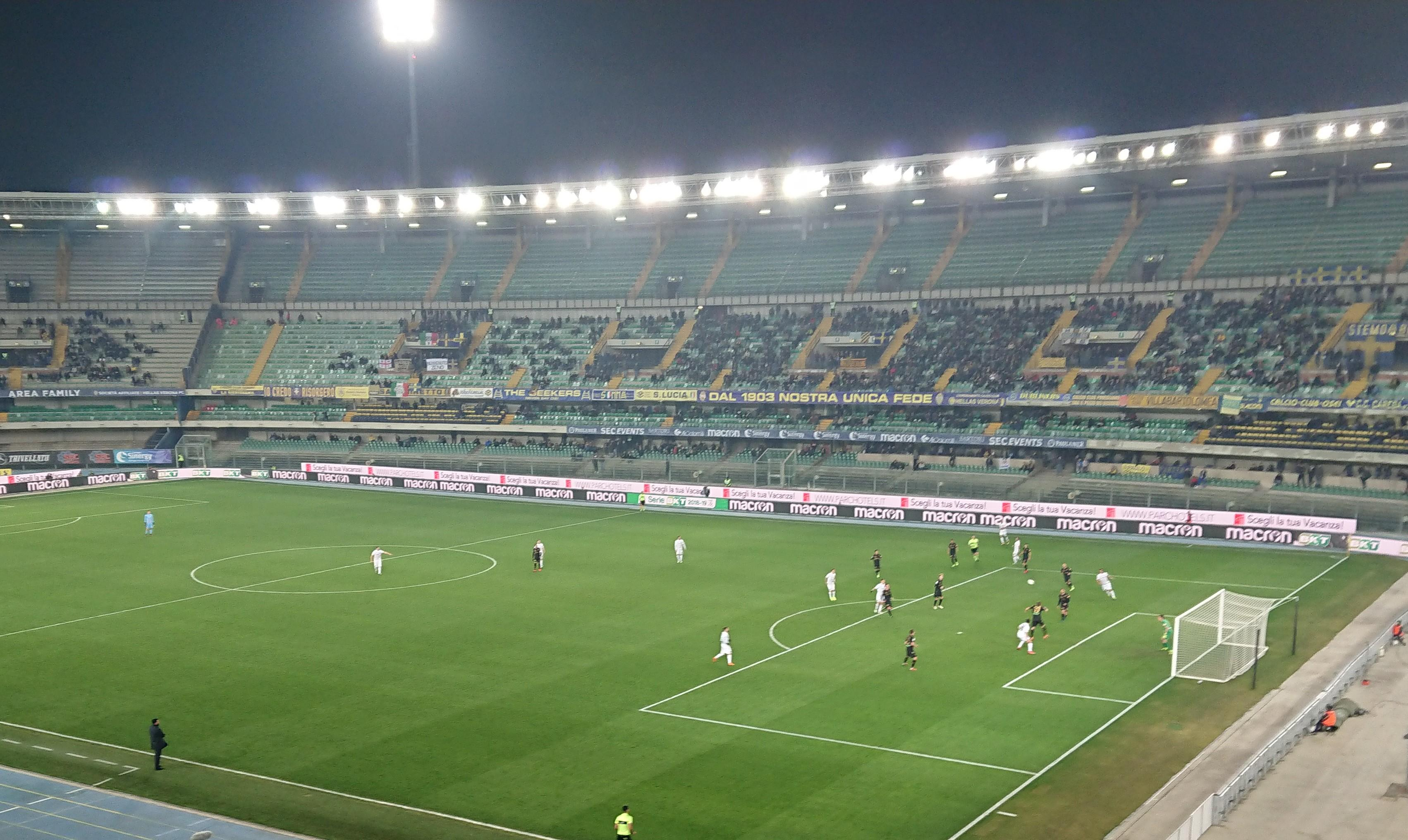 Under the lights in Verona