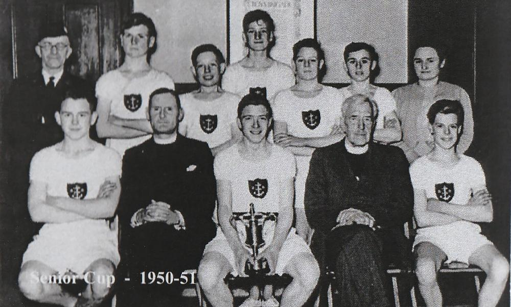 Jock holding the Physical Training Cup 1950.jpg